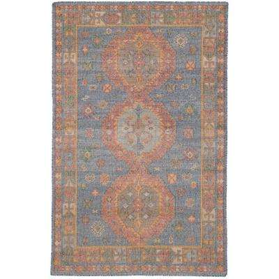 Kozak Blue 5 ft. x 8 ft. Indoor Area Rug