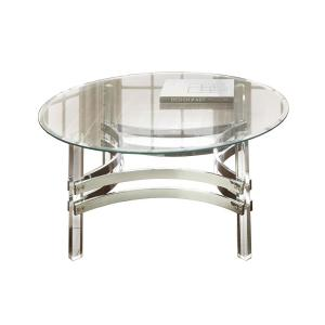 Clayhill Glass and Acrylic Cocktail Table by