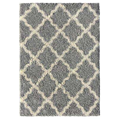Bella Collection Grey 7 ft. x 9 ft. Area Rug