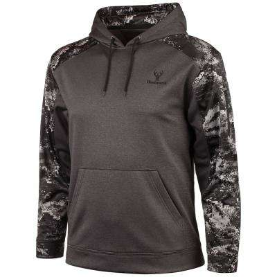 HUNTWORTH Men's X-Large Heather Gray / Disruption Black Hoodie