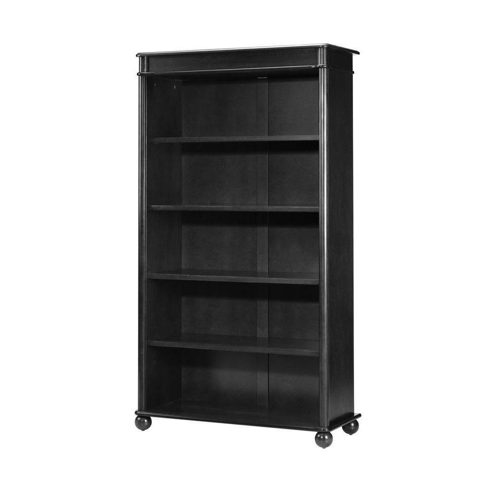 Home Decorators Collection Essex 32 in. W Black Suffolk 5-Shelf Open Bookcase