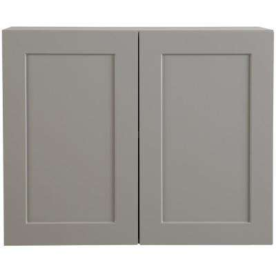 Cambridge Assembled 30x24x15.5 in. Wall Cabinet in Gray