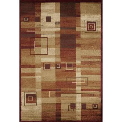 Clary Federico Ruby Red 3  ft. 11 in. x 5  ft. 3 in. Rectangular Area Rug