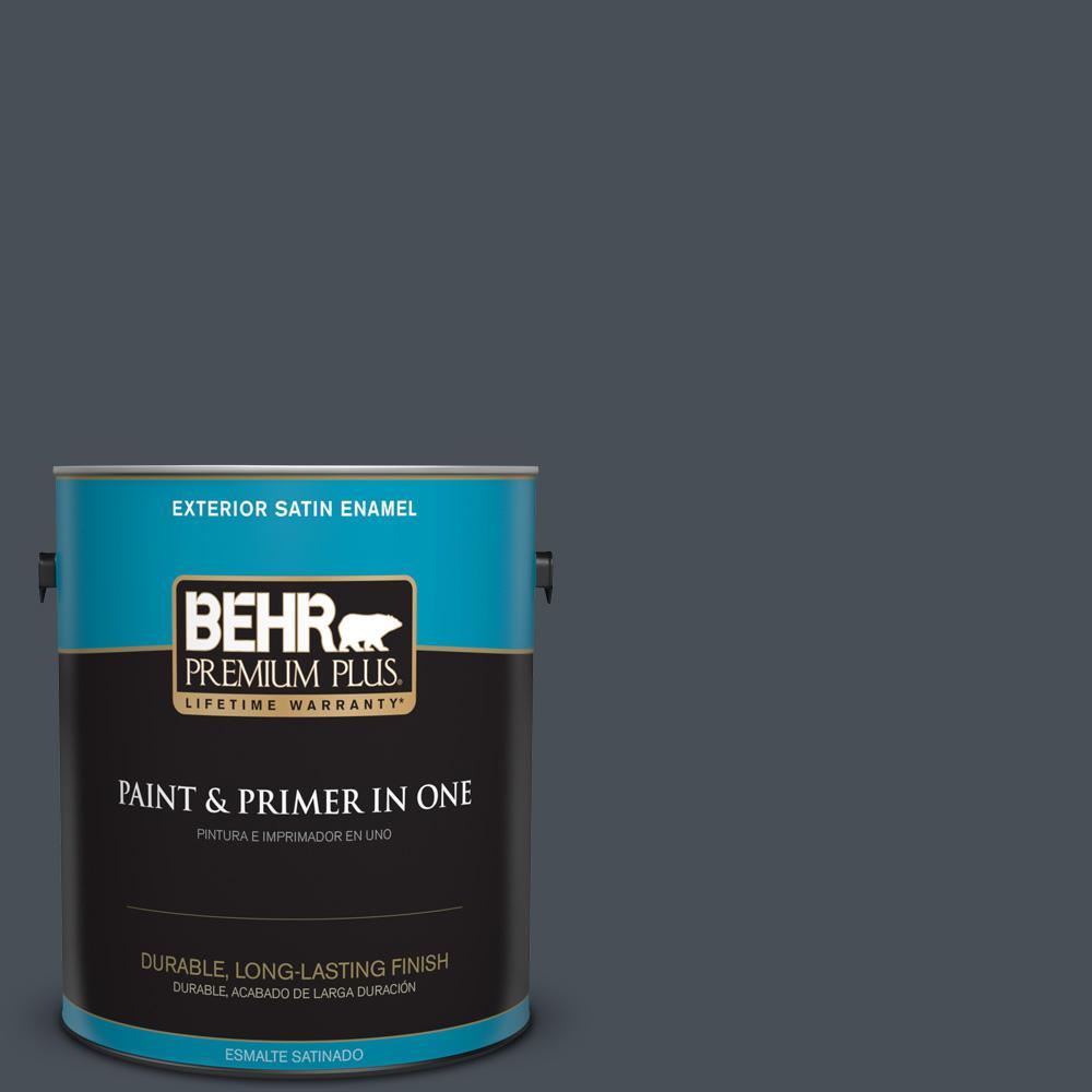1 gal. #PPU25-22 Chimney Satin Enamel Exterior Paint