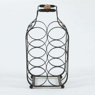 6-Bottle Natural Tabletop Wine Rack