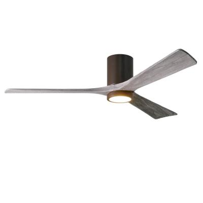 Irene 60 in. LED Indoor/Outdoor Damp Textured Bronze Ceiling Fan with Light with Remote Control and Wall Control