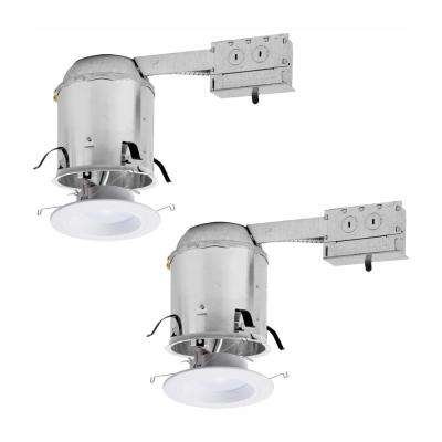RL 6 in. Remodel Ceiling Housing and Dimmable White Integrated LED Recessed Light Retrofit Kit, T24 Rated, (2-Pack)