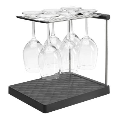 Wine Glass Drying Rack in Charcoal