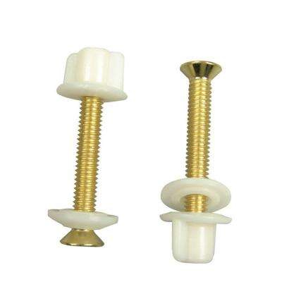 Brass Plated Toilet Seat Bolts