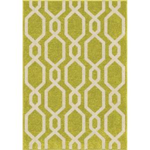 Orian Rugs Cascades Lime Green 3 ft. 10 inch x 5 ft. 2 inch Indoor Accent Rug by Orian Rugs