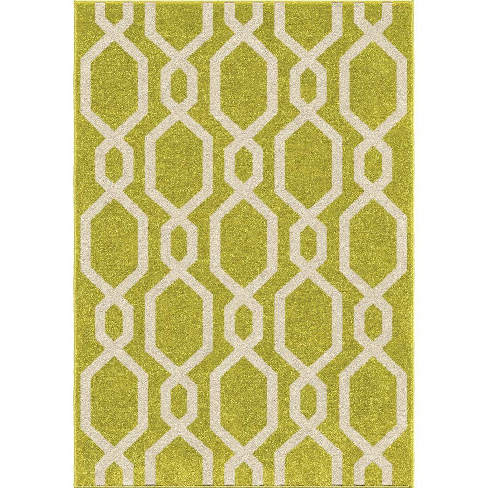 Lime Green Overdyed Rug: Orian Rugs Cascades Lime Green 5 Ft. 2 In. X 7 Ft. 6 In