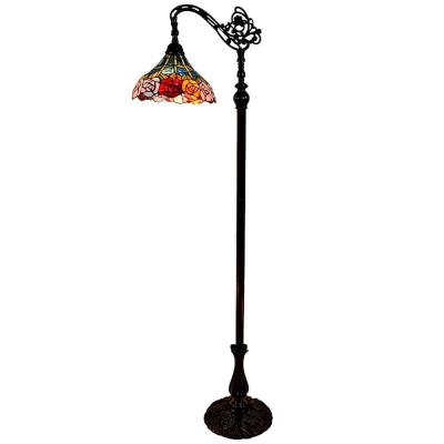 62 in. Tiffany Style Roses Reading Floor Lamp