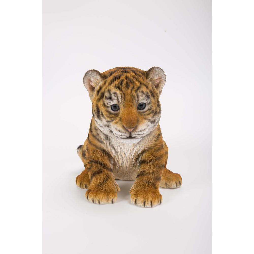 Tiger Cub Sitting Statue