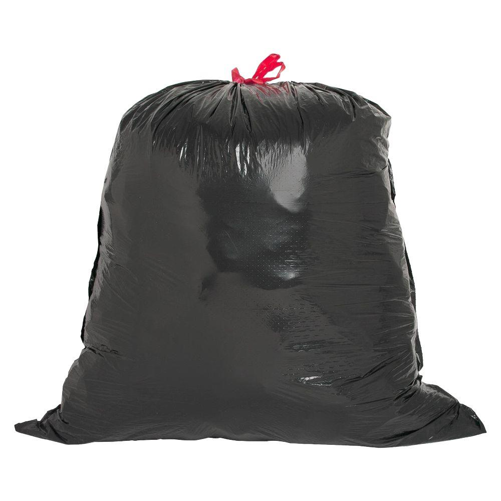 Black Flex Drawstring Trash Liners 42 Count