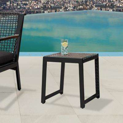 Calvin Black Powder Coated Aluminum Outdoor Side Table (2-Pack)