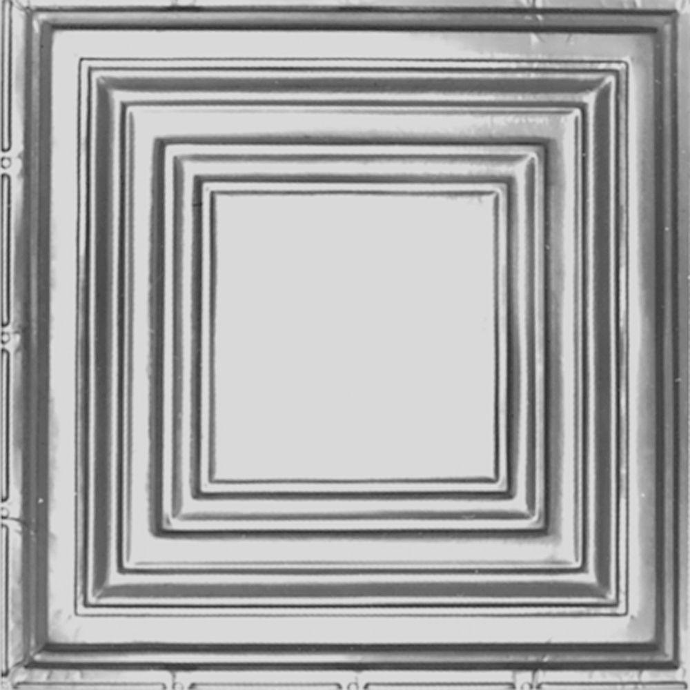 Tin Ceiling Tile In Clear Lacquer