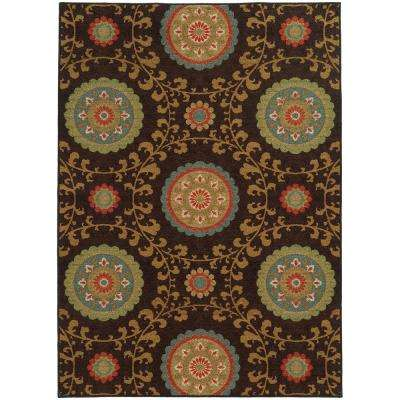 Jamestown Chocolate 6 ft. 7 in. x 9 ft. 3 in. Area Rug