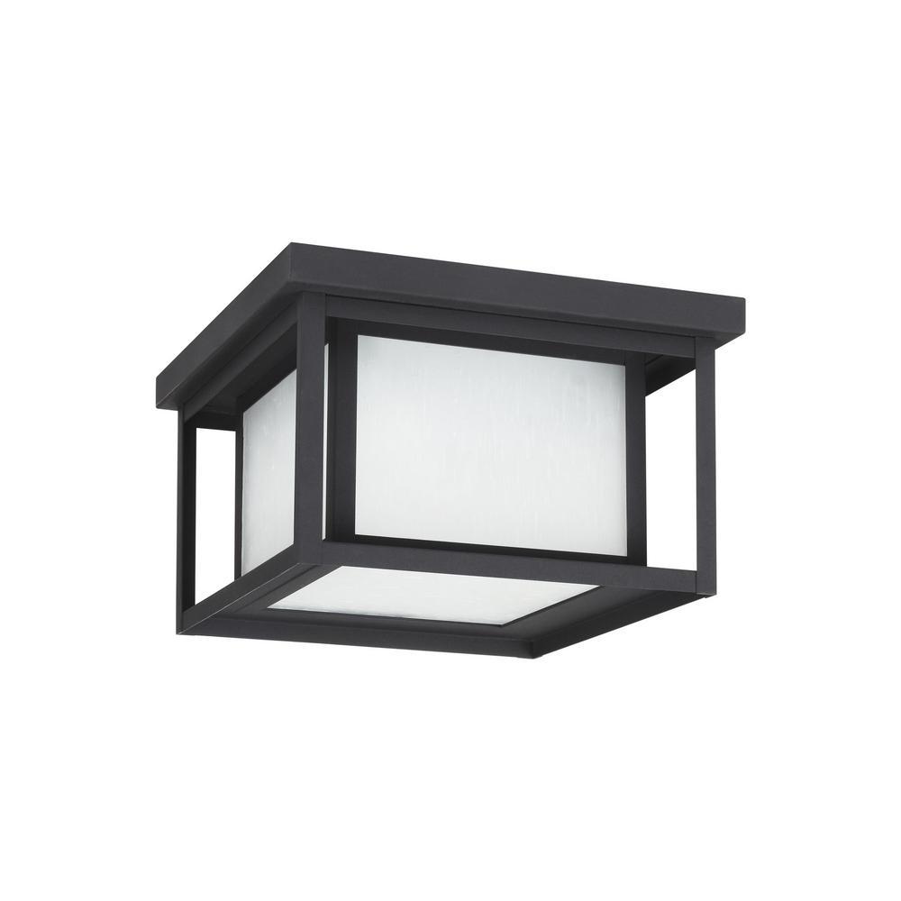 Hunnington Black Integrated LED Outdoor Flush Mount