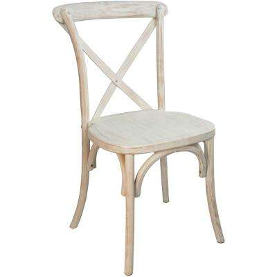 Lime Wash X-Back Chair