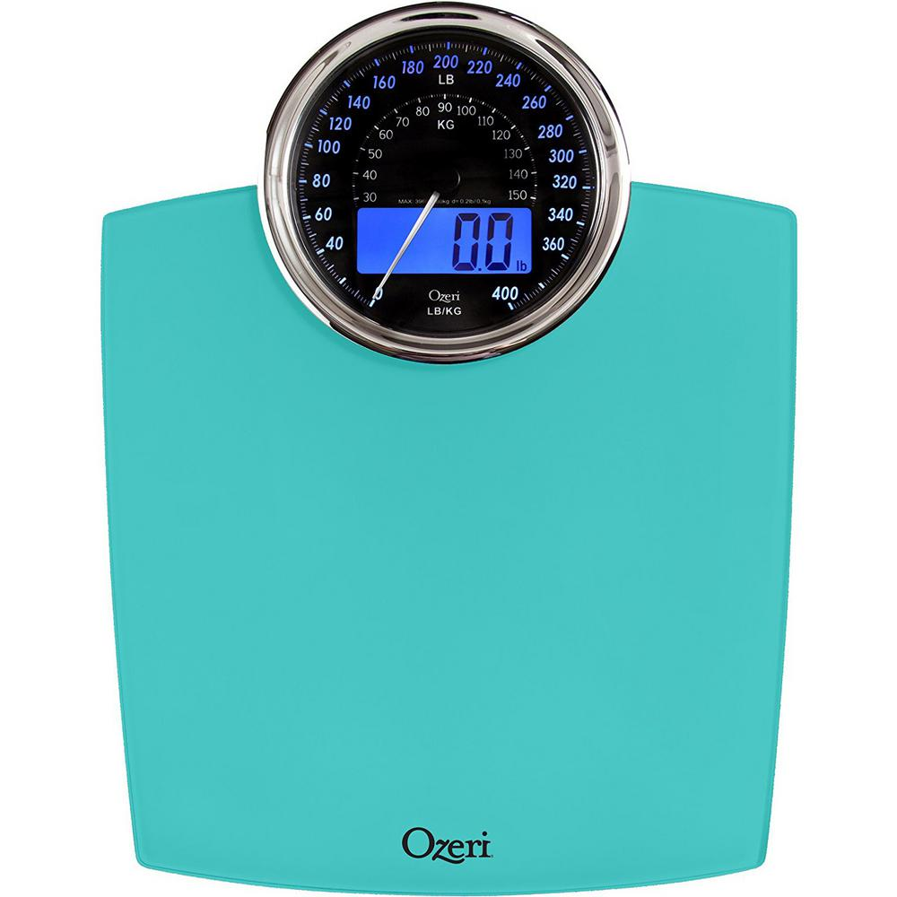 Rev Digital Bathroom Scale With Electro Mechanical Weight Dial