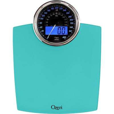 Rev Digital Bathroom Scale with Electro-Mechanical Weight Dial