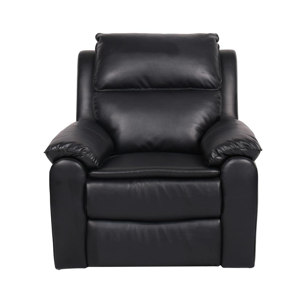 Relax a lounger warren faux leather recliner chair in black