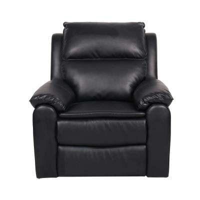 Warren Faux Leather Recliner Chair in Black