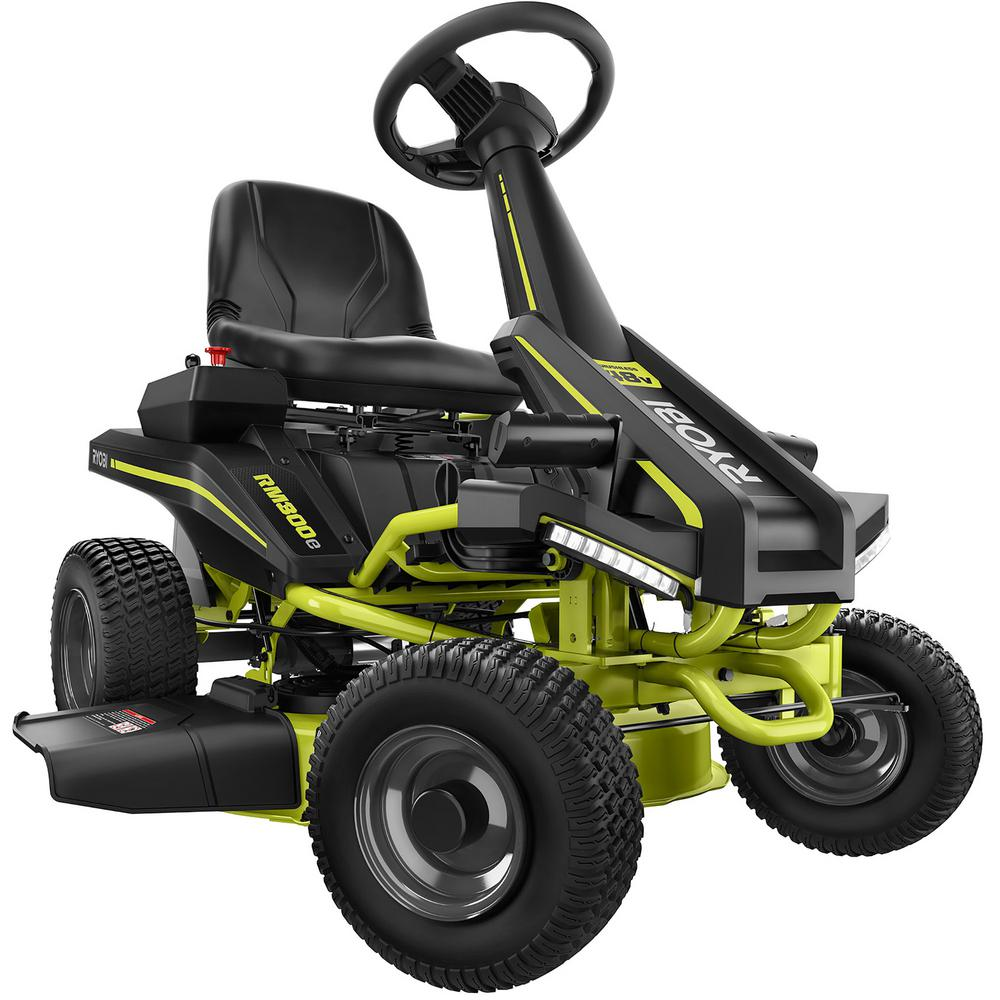 RYOBI 30 in. 50 Ah Battery Electric Rear Engine Riding Mower-RY48130 - The  Home Depot