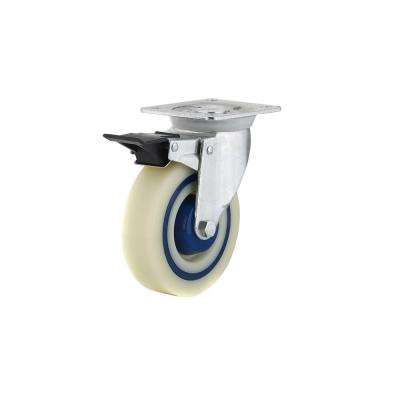 5 in. Heavy-Duty Polyamide-Rubber Swivel Caster with Brake