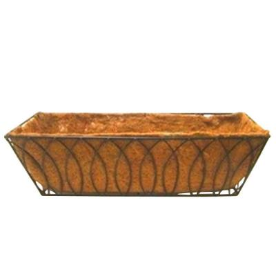 24 in. Devon Window/Deck Planter with AquaSav Coconut Liner