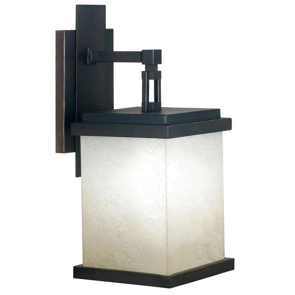 Kenroy Home Plateau Large Outdoor Oil Rubbed Bronze Wall Lantern