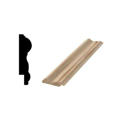 WG 298R 9/16 in. x 2-1/2 in. x 96 in. Solid Pine Panel Moulding