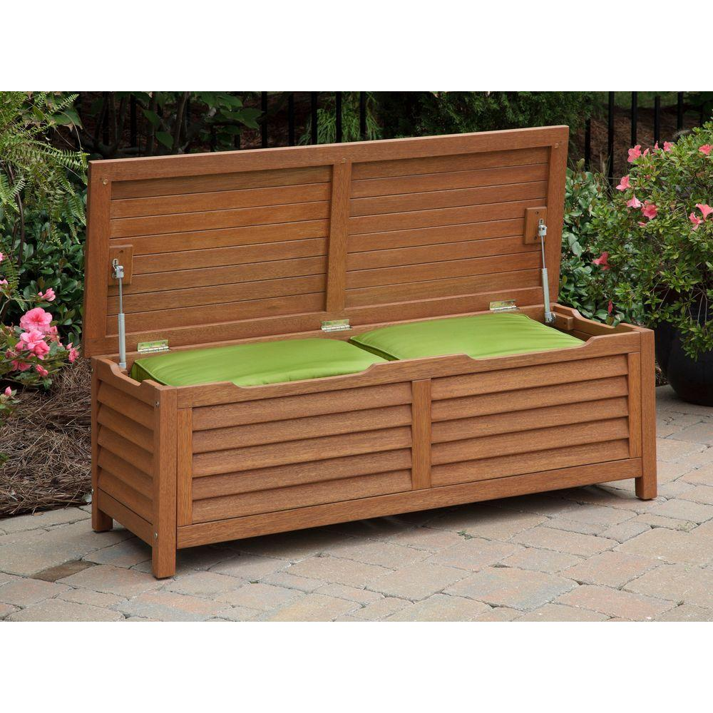 Enjoyable Homestyles Montego Bay Patio Deck Box Theyellowbook Wood Chair Design Ideas Theyellowbookinfo