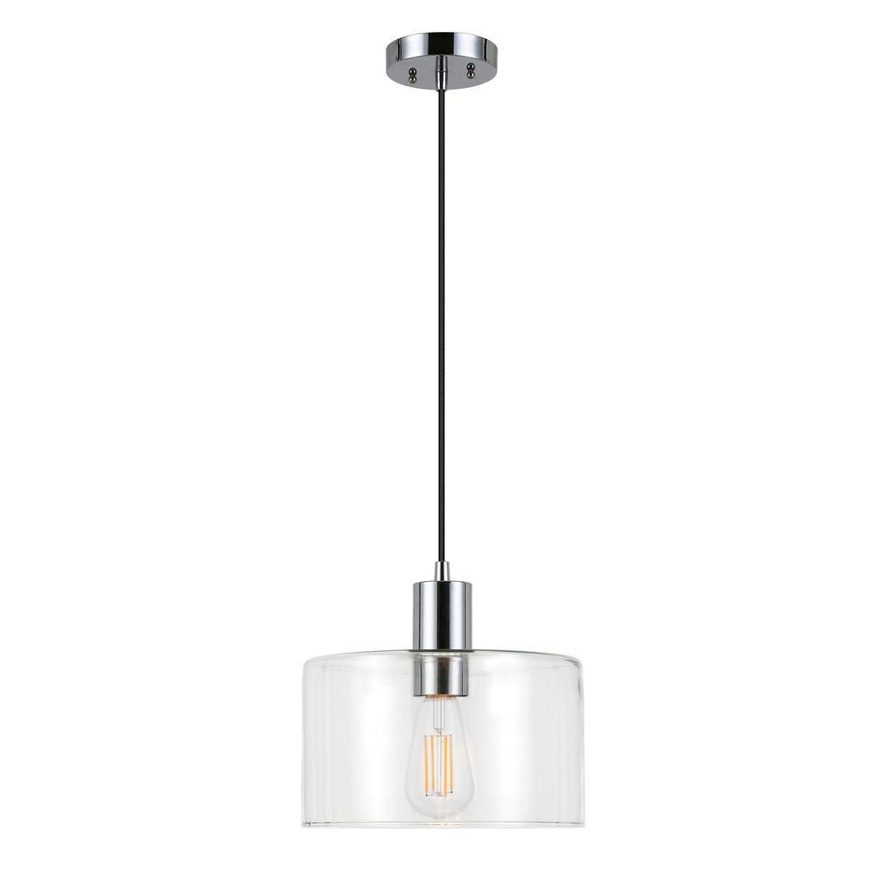 Henri 1-Light Polished Nickel Pendant