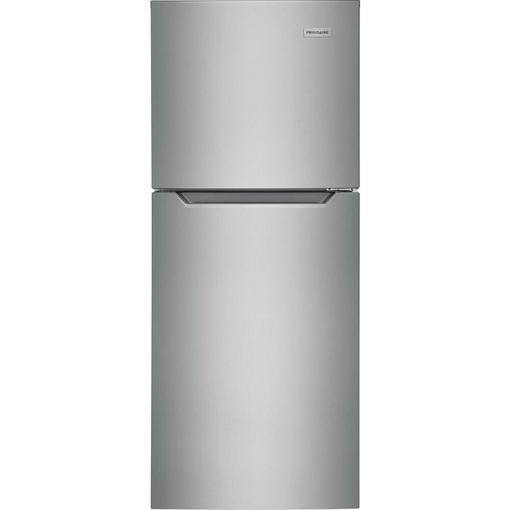 Frigidaire 10.1 cu. ft. Top Freezer Refrigerator in Brushed Steel, ENERGY STAR