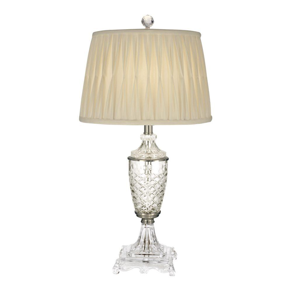 Dale Tiffany 30 in. Norris Satin Nickel Table Lamp
