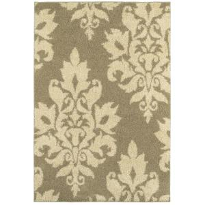 Home Decorators Collection Meadow Damask Neutral 7 ft. 10 inch x 10 ft. Area Rug by Home Decorators Collection