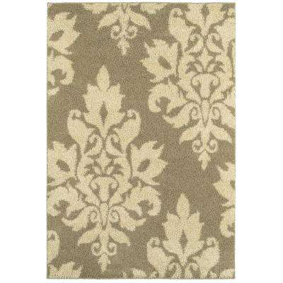 Meadow Damask Neutral 7 ft. 10 in. x 10 ft. Area Rug