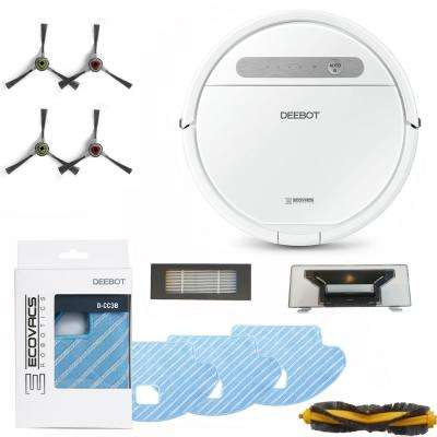 DEEBOT Robotic Vacuum and Mop Cleaner with Service Kit and Replacement Mopping Pads