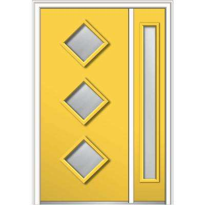 48 in. x 80 in. Aveline Low-E Glass Right-Hand 3  sc 1 st  Home Depot & Northern - Midcentury - Yellow - Doors With Glass - Steel Doors ...
