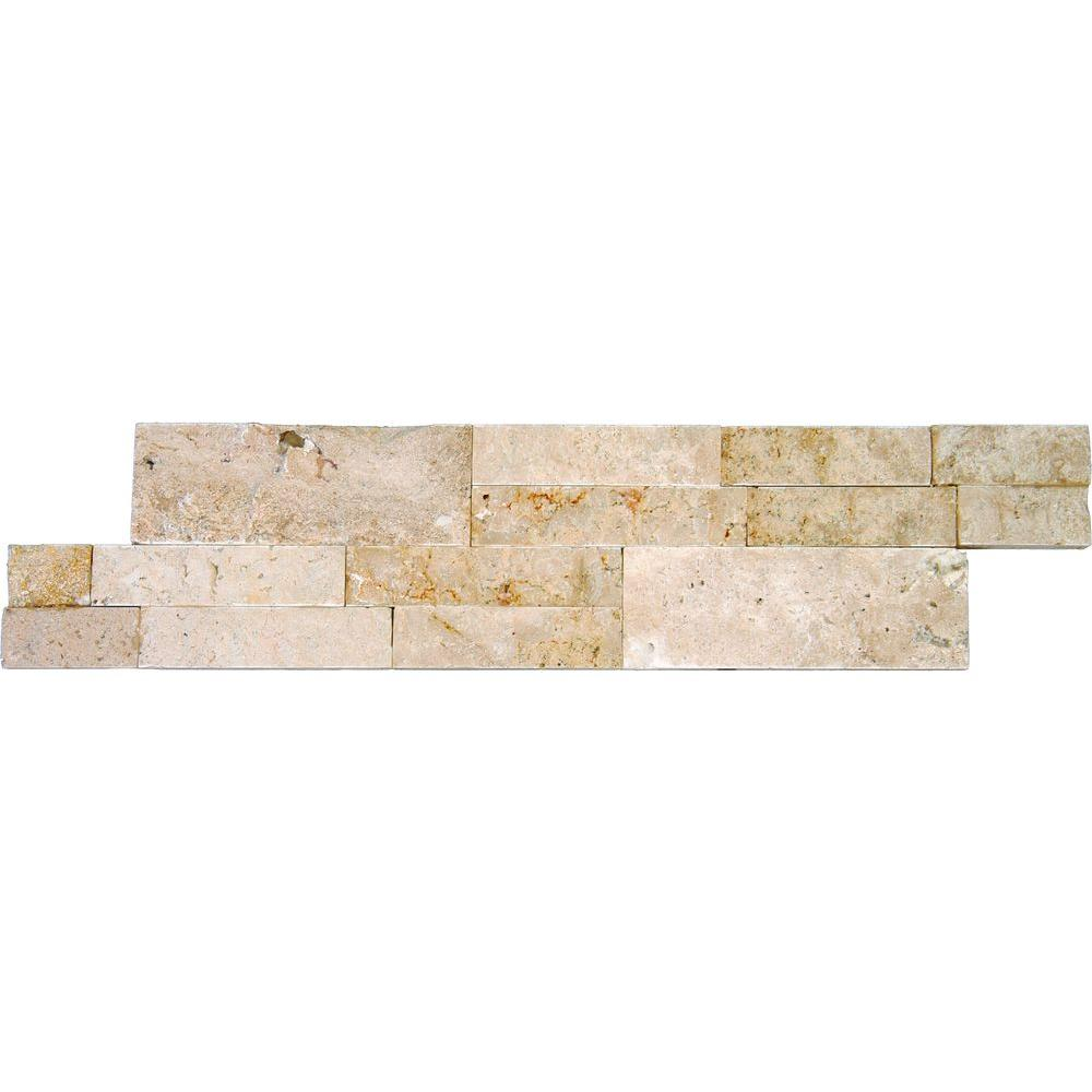 MS International Roman Beige Ledger Panel 6 in. x 24 in. Natural Travertine Wall Tile (10 cases / 60 sq. ft. / pallet)