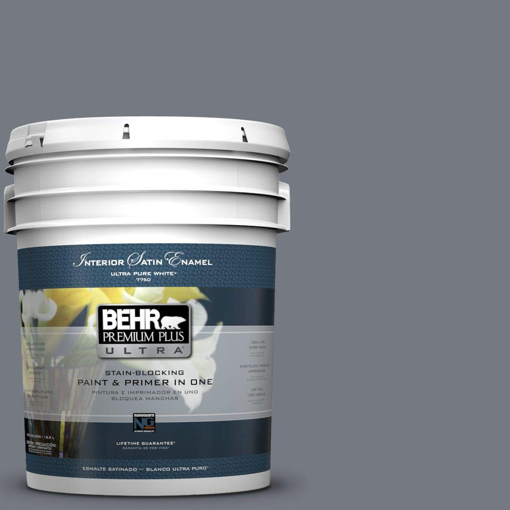 5 gal. #N510-5 Liquid Mercury Color Satin Enamel Interior Paint