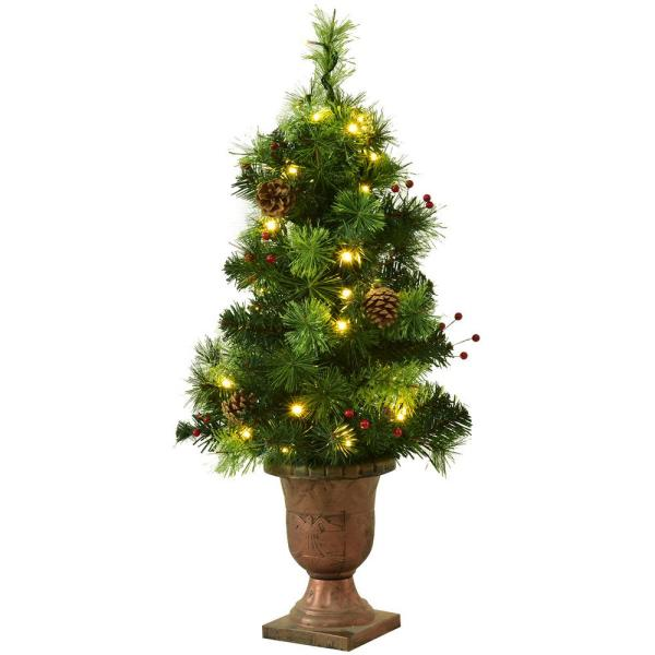 3 ft. Pre-Lit Artificial Christmas Tree with 40 Clear Lights