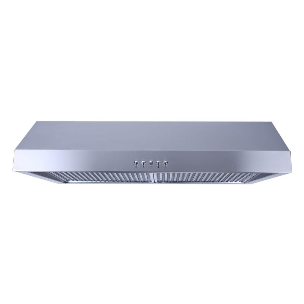 Charmant Under Cabinet Ducted Range Hood With Light And Push Button In Stainless