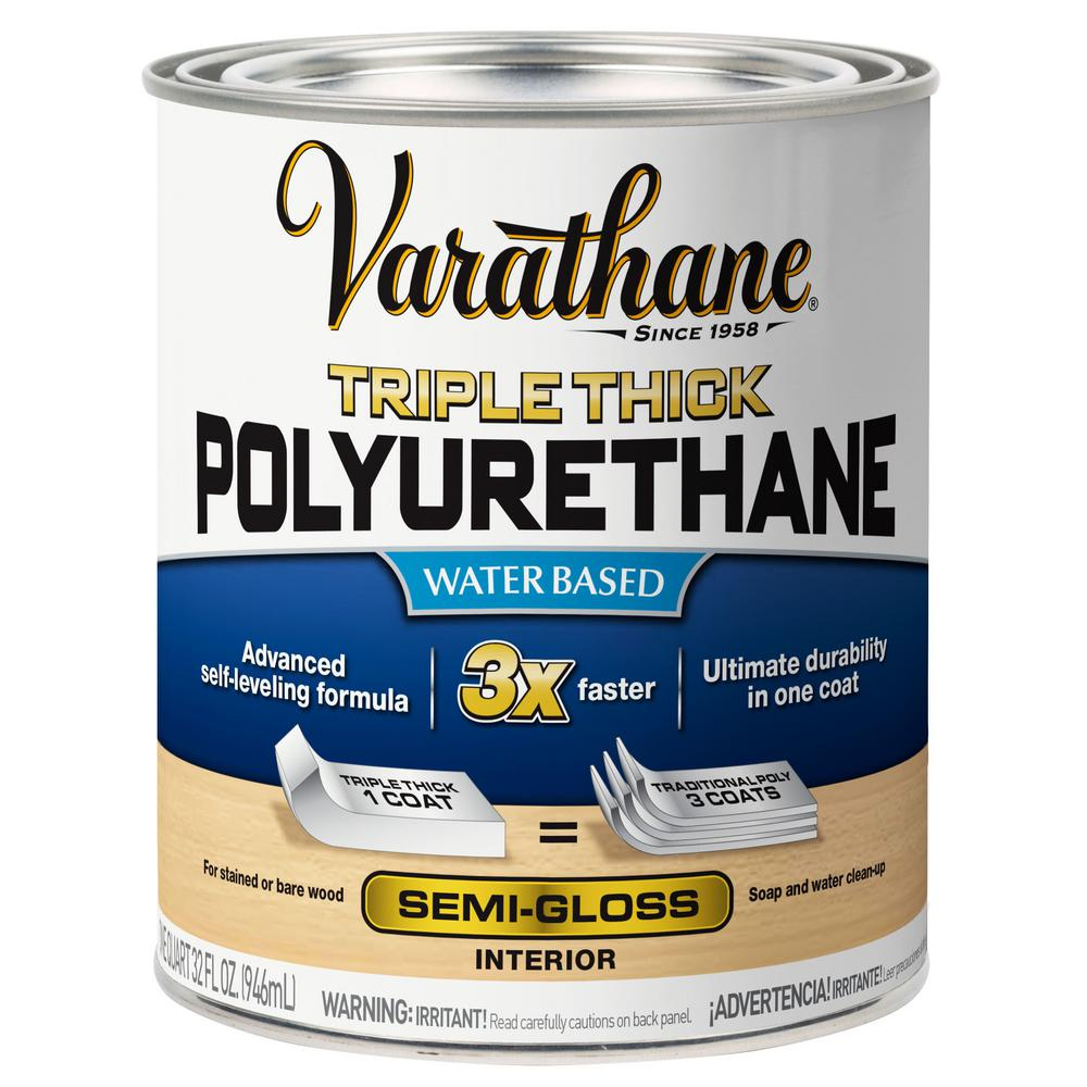 Varathane 1 qt. Semi-Gloss Triple Thick Polyurethane (2-Pack)