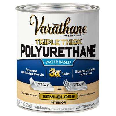 1 qt. Semi-Gloss Triple Thick Polyurethane (2-Pack)