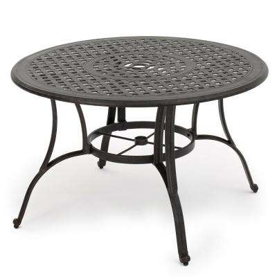 Yaretzi Circular Cast Aluminum Outdoor Dining Table
