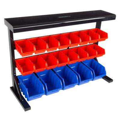 21-Compartment Small Parts Organizer Rack