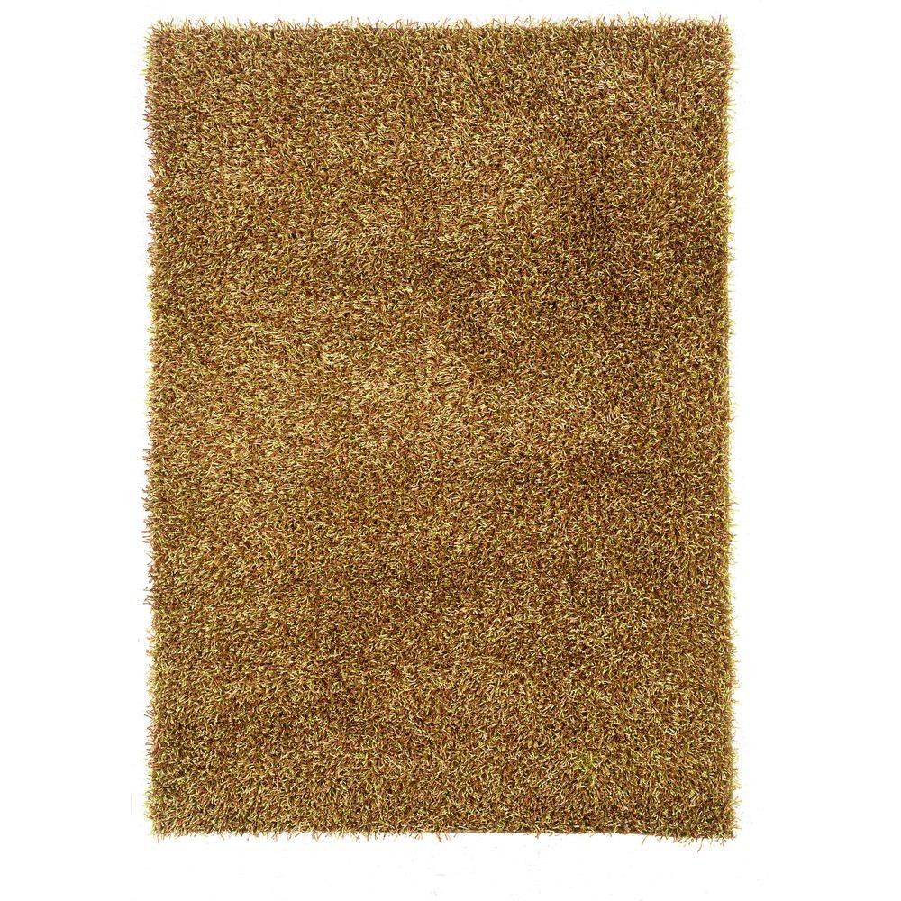 Linon Home Decor Confetti Grass Green And Brown 8 Ft. X 10