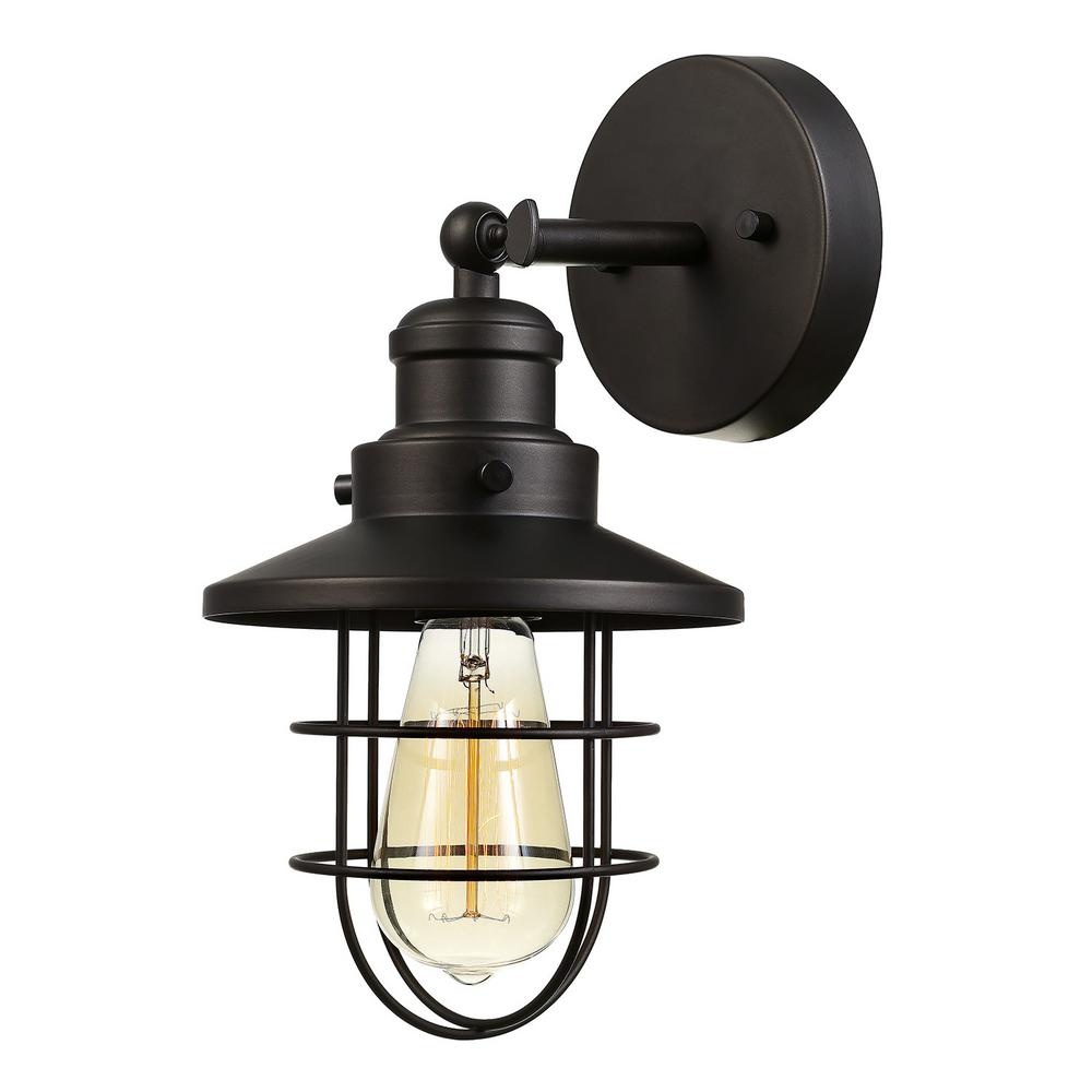 Globe Electric Beaufort 1-Light Oil Rubbed Bronze Sconce